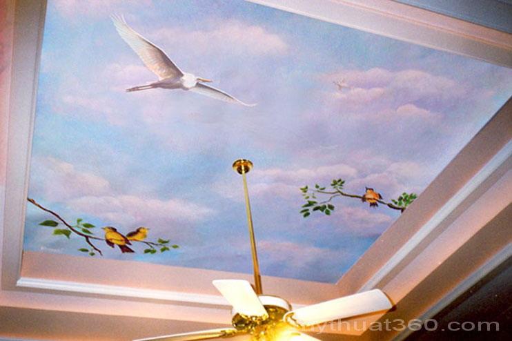 Trang trí trần nhà thêm sinh động